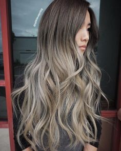 Brown To Ash Blonde Ombre Hair