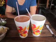 El Nativo ~ smoothies are absolutely amazing, for $3. You get a one-liter smoothie with fruits & veggies of your choice, lightly sweetened with local honey.