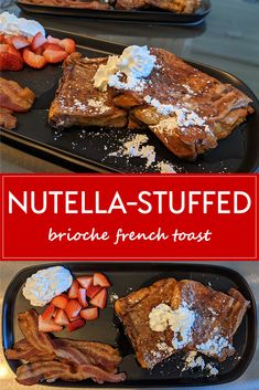 Sweet Breakfast, Breakfast Dessert, Perfect Breakfast, Breakfast Recipes, Brioche French Toast, Nutella, Homemade French Toast, Valentines Food, Decadent Chocolate