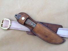 Custom Knife Sheaths | Custom Leather Knife Sheath 8″ Overall 5″ Fixed Blades ...