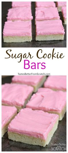 Sugar Cookie Bars on TastesBetterFromScratch.com
