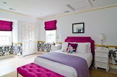diseño de habitaciones morado y dorado - Buscar con Google