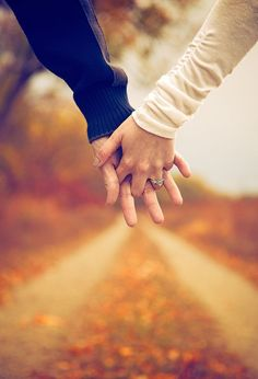 Fall engagement sessions yield vibrant photos...turning leaves provide wonderful bokeh opportunities...