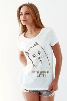#sekizcom #woman #girl #tshirt #shopping #gri #tasarim #design #baski #fashion #clothing #sweatshirt #uzunkollu #tiger #white #cat #latte