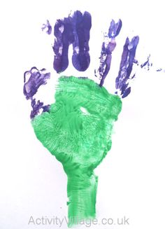 Handprint Thistle and more thistle crafts Burns Night Activities, Burns Night Crafts, Art Activities For Toddlers, Nursery Activities, Childcare Activities, Baby Activities, Toddler Art, Toddler Crafts, Preschool Crafts