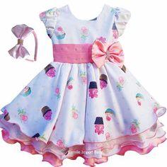 Vestido Infantil Festa Criança Princesa - Pronta Entrega - R$ 129,00