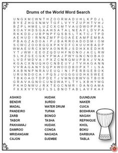 music word search puzzles pdf