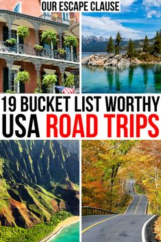 19 Best Road Trips in The USA - Looking for the best USA road trips? From national parks to fall foliage to touring small town America, here's the ultimate list of Great American road trips. Road Trip Usa, Usa Roadtrip, Travel Usa, Texas Travel, Best Road Trips, East Coast Road Trip, Travel Oklahoma, Reisen In Die Usa, Usa Places To Visit