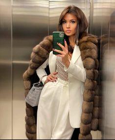Winter Fashion Outfits, Fur Fashion, Edgy Outfits, Classy Outfits, Autumn Fashion, Cute Outfits, Womens Fashion, Luxury Fashion, New Year Look