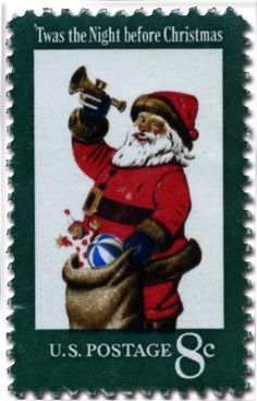 Day 11 - The Postal Service has issued over 160 traditional holiday stamps since 1962! This stamp, issued in 1972, was the first U.S. stamp featuring Santa Claus/St. Nicholas.  To me personally, St. Nick personifies the Christmas Holiday more than any other image.  What image do you think best captures the spirit of the this Holiday?  1972 – Santa Claus – Traditional.  ... Happy Holidays from World Stamp Show-NY2016