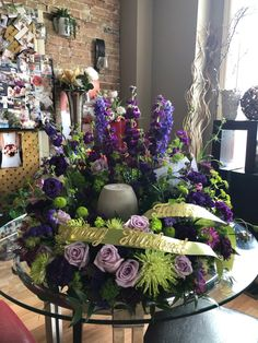 Brantford Blooms Florist offers unique arrangements for any occasion. With same-day day delivery, your flowers will surely brighten someone's day. Blooms Florist, Funeral, Flower Arrangements, Congratulations, Floral Wreath, Birthdays, Wreaths, Table Decorations, Flowers
