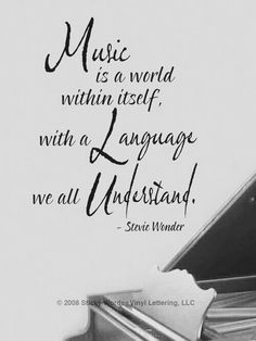 Understand - Stevie Wonder at Sticky Words Vinyl Lettering, LLC The Words, Tempo Music, We Will Rock You, All About Music, Quotes About Music, Sound Of Music Quotes, Music Quotes Deep, Music Sayings, Music Wall