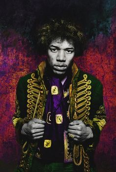 Jimi Hendrix Color Jacket by Gered Mankowitz