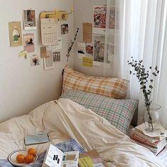 Room Ideas Bedroom, Bedroom Decor, 50s Bedroom, Bedroom Inspo, Korean Bedroom Ideas, Bedroom Stuff, Indie Room, Minimalist Room, Aesthetic Room Decor