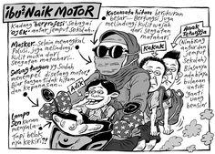 Mice Cartoon, Kompas Minggu - 22 November 2015: Ibu-ibu Naik Motor