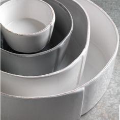 Lastra Large Serving Bowl White