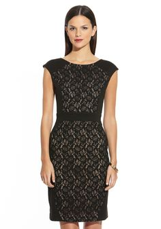 SCARLETT Lace Panel Cocktail Dress