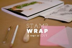 Stamp Wrap - I think Morrison ought to read this as she's been wanting to try her hand at the stamp. I just want to remember to make the awesome wrapping paper. Awesome Things, Wrapping, About Me Blog, Wraps, Stamp, Paper, How To Make, Diy, Bricolage