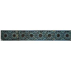 Tile panel from Bayan Quli Kahn's tomb, Bukhara, Uzbekistan, made ca. 1358. V&A collection.