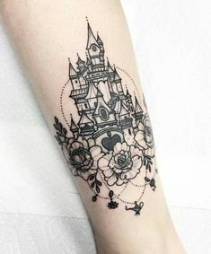 Disney castle and more tattoo
