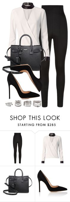 """Style #11408"" by vany-alvarado ❤ liked on Polyvore featuring Balmain, Exclusive for Intermix, Yves Saint Laurent, Gianvito Rossi and Forever 21"