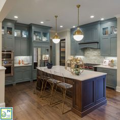 2016 Richmond Homearama kitchen design blue cabinets