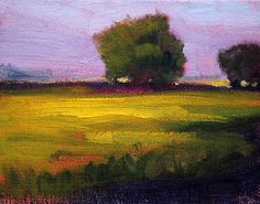 Miniature Landscape Oil Painting Original on Canvas by smallimpressions