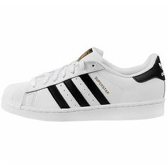 Adidas Superstar Mens C77124 White Black Gold Shell Toe Shoes Sneakers Size 10