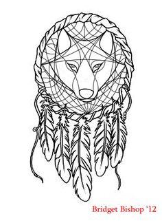 Dreamcatcher Wolf design by ~AshesOfTheSage on deviantART