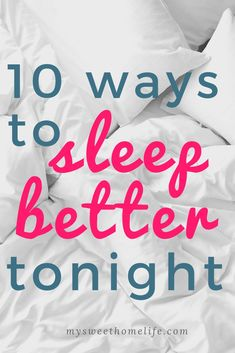 10 tips for a better night& sleep. sleep tips & sleep optimization & night routine & sleep better The post 10 tips for a better night& sleep. & Sleep tips appeared first on Sleep optimization . Ways To Sleep, How To Sleep Faster, Sleep Better, Sleep Help, Tips Instagram, Insomnia Causes, Insomnia Remedies, Sleep Remedies, Tips Fitness