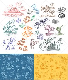Hand drawn illustrations set and seamless pattern  #GraphicRiver        A set of hand drawn vector elements and two seamless backgrounds with these elementsHi-res PNG with trancparency included. Hi-res PSD with all elements on separated layers included. main file: vector EPS additional: hi-res transparent PNG , hi-res JPG , hi-res PSD with all drawings on its own layer     Created: 28February12 GraphicsFilesIncluded: PhotoshopPSD #TransparentPNG #JPGImage #VectorEPS Layered: Yes…