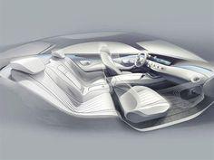 S Class coupe interior sketch