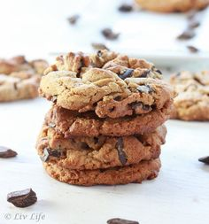 Peanut Butter Cookies with Chocolate Chunks... Gluten, Dairy Free and Irresistible!