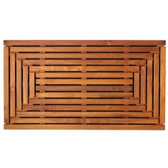 Bare Decor Giza Shower, Spa, Door Mat in Solid Teak Wood and Oiled Finish Teak Shower Mat, Wood Shower Bench, Non Slip Shower Mat, Shower Floor, Spa Shower, Shower Bathroom, Shower Mats, Shower Benches, Rustic Shower