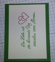 Liebe. .. kleine Klappkarte, Kartenmaß : 7 × 9,5 cm mit Umschlag