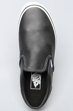 black aged leather vans.