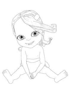 Colorier un dessin de bébé Lilly