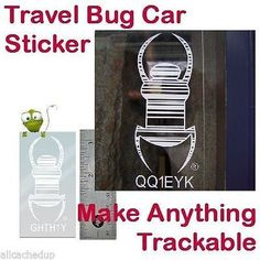 Geocaching Official Travel Bug Sticker - Make anything Trackable 3 inch Geocaching, Bug Car, Travel Bugs, Tbs, Car Stickers, Coins, Track, Tutorials, How To Make