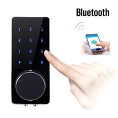 Electronic Bluetooth Smartcode Digital Door Lock Keyless Touch Password Deadbolt For Hotel and Apartment Order here:http://ali.pub/1r3poc