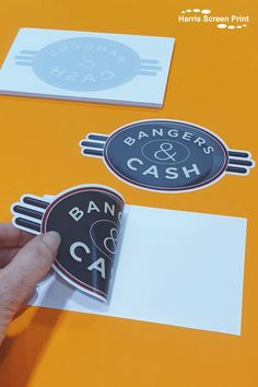 Car window stickers printed to promote the UK TV series Bangers & Cash. The full colour car stickers were printed with an opaque white background and kiss cut to shape neat around the logo. the car stickers were supplied on indivdual rectangle carrier backings, so great to hand out or post out to promote campaigns. Car Window Stickers, Car Stickers, Uk Tv, Rear Window, Custom Cars, Screen Printing, Shapes, Tv Series, Kiss