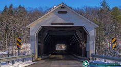 West Dummerston Covered Bridge. Dummerston Vermont The West Dummerston Covered Bridge is located in west-central Dummerston a short way north of the village of West Dummerston. It spans the West River in a roughly east-west direction and is mounted on stone abutments and a central stone pier. The bridge consists of two spans each supported by Town lattice trusses and has a total structure length of 280 feet (85 m). The sides of the bridge are finished in flush vertical boards and the ends…