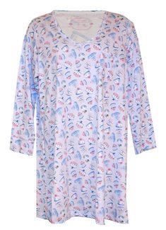 Carole Hochman Plus Size Sleepshirt Nightgown  CaroleHochman   LongSleeveSleepshirtNightgown  Sleep Decorated Cakes 9b8d1ba90
