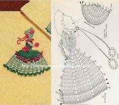 Crochet girl applique free pattern