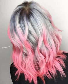 hairstylesbeauty:  Damn girl. This is haute! Hair by the big... Hair Color Pink, Pink Hair, Make It Yourself, Rose Pink Hair, Rosa Hair, Pink Hair Dye