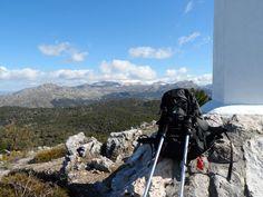 Desde la cruz de Alfacar vemos al fondo Sierra de Arana nevada, Granada
