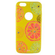 iphone 6 telefon limon desenli kılıfı