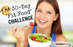 Join the 30-Day 'Fit Food' Challenge! via @SparkPeople weekly grocery lists and meal plans to help you stay on track this month.
