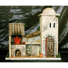 Casa Diorama, Bird, Outdoor Decor, House, Bethlehem, Home Decor, Angel, Women, Recycled Crafts