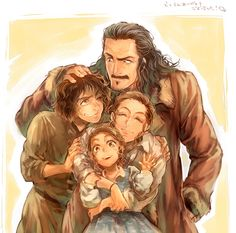 Bard's movie family... I'm not sure but I think that in the book he had only two children...