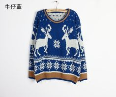 fall/winter 2013-new Korean version of loose vintage deer sweater Korean version of loose sweaters